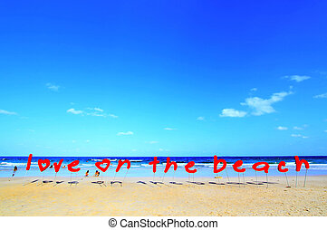 Love Sign - Love on the beach