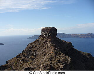 image from Santorini with volcano