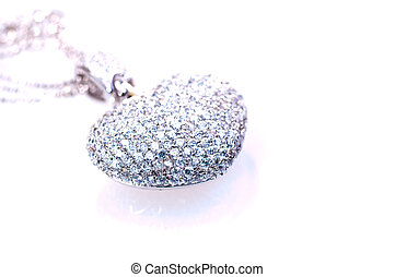 Heart shaped pendant close up - Heart shaped pendant with...