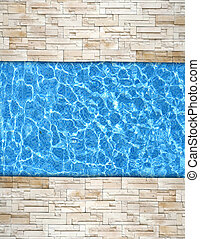 modern brick pavement with pool edge background