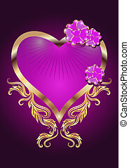 Decorative hearts - Card with decorative hearts