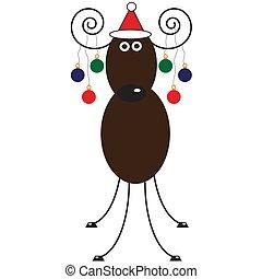 meery christmas - reindeer