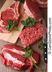 raw meats - raw meat,studio shot