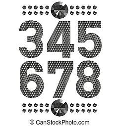 diamond letters and numbers big and small