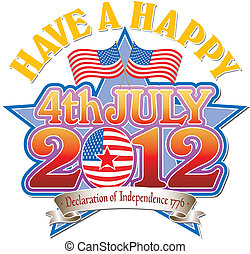 4 July 2012 vector Graphic