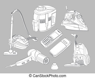 household goods - A Vector eps 8 illustration of the...