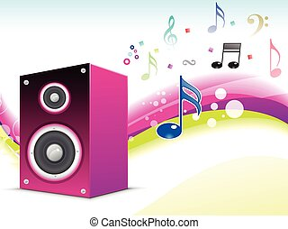 abstract musical sound background