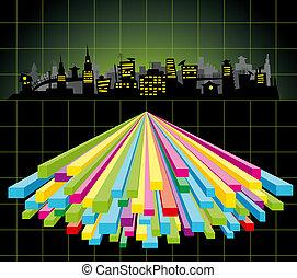 diagrama, ciudad