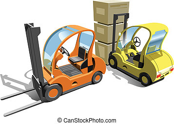 Forklift - A Vector eps 8 illustration of the forklift