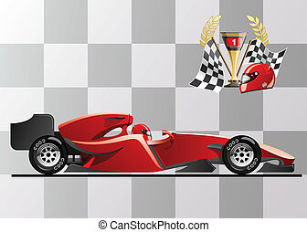 formula 1 - vector illustration of formula 1 racing car