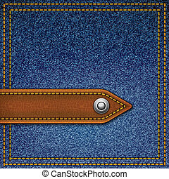 Realistic vector denim background