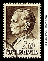 Postage stamp. - Yugoslavia-CIRCA 1968:A stamp printed in...