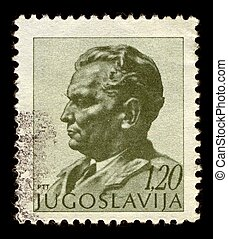 Postage stamp - Yugoslavia-CIRCA 1972:A stamp printed in...