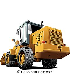 loader_back - Detailed vectorial image of pale brown loader,...