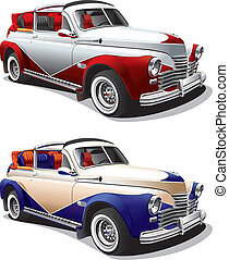 hot rod No1 - Detailed image of hot rod, executed in two...