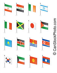 Flag icon set (part 6)