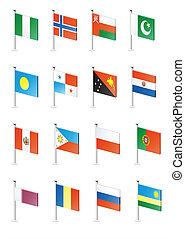 Flag icon set (part 9)