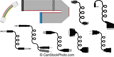 cables vector illustration