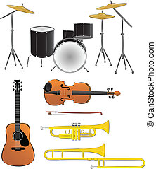 Musical instruments illustrations
