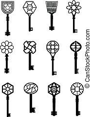 keys vector illustrations