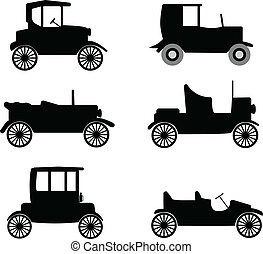 old timer cars illustration