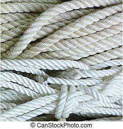 NYLON ROPE 2 - A closeup of white nylon rope