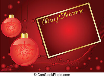 Abstract  red christmas  background, with room for text
