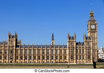parliament - London, government houses of the Parliament in...
