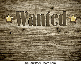 wanted - An image of a beautiful wooden wanted background