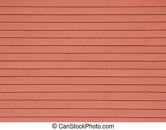 Wooden Siding - Straight lines and design of rust coloured...