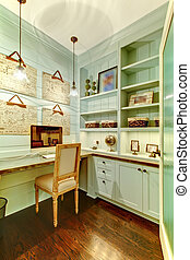 Small room - home office in the closet. - Small home office...