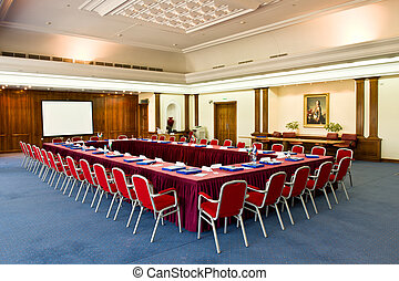 Empty conference hall - Conference hall for international...
