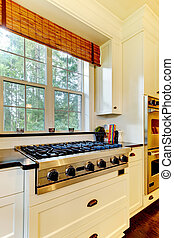 Luxury cooking stove and white kitchen - Wite kitchen and...