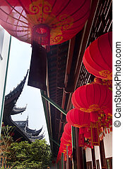 Red Lanterns Jade Buddha Temple Jufo Si Shanghai China Most...