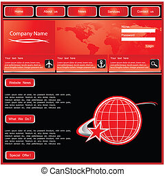 web site design template