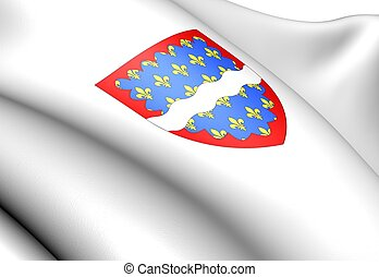 Cher department coat of arms, France.