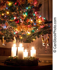Advent and Christmas - beautiful Advent wreath under the...