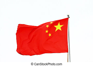 Flag of China on white background