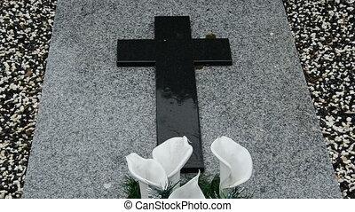 rain in the cemetery