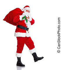 Santa Claus. - Happy traditional Santa Claus walking with...