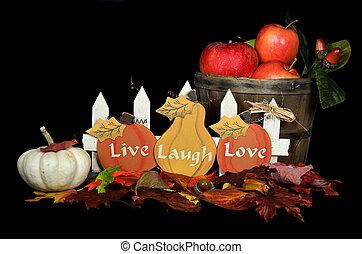otoño, todavía, escena