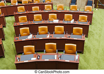 Senate Chamber - View of seats in a Senate Chamber