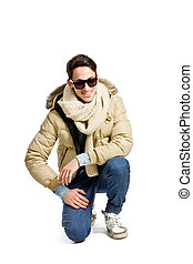 Fashion Guy 2 - photo of young man wearing winte clothes on...
