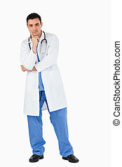 Portrait of a doubtful doctor