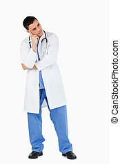 Portrait of a thoughtful doctor