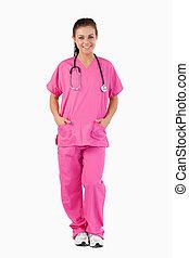 Portrait of a nurse standing up