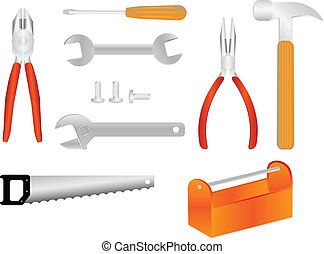Tools vector illustrations