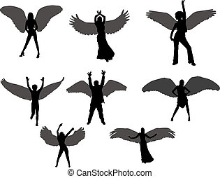 angels silhouettes
