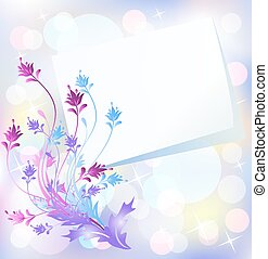 Floral background with paper - Floral background for an...