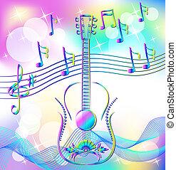 Magic music. Guitar.